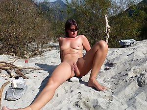 Dissolute experienced moms revealing their tits