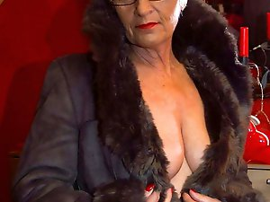 Lewd mature grannies get naked for you