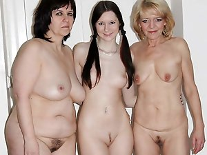 Gallant older girls posing nude on picture