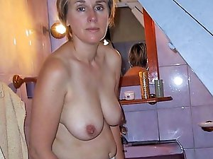 Classy older damsel baring it all on picture