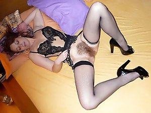 Awesome mature mademoiselles having unshaved pussy