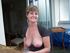 Nasty mature prostitute with giant breasts