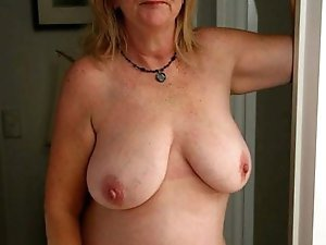 Sensual older gilf having huge breasts